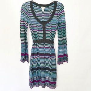 3/$15 Harolds Blue Chevron Stripe Sweater Dress XS